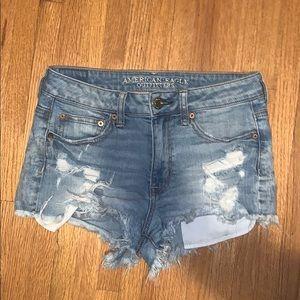 """Hi-rise Festival"" American Eagle jean shorts"